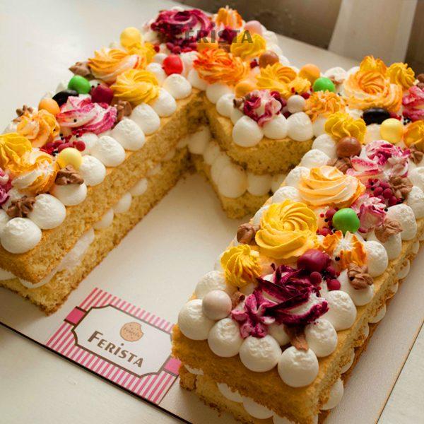 m 2 600x600 - کیک حرف ام انگلیسی
