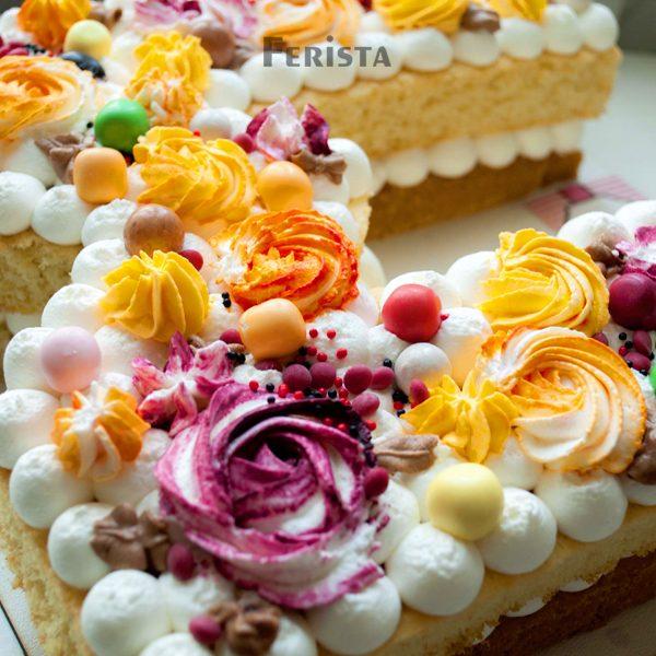 m 3 600x600 - کیک حرف ام انگلیسی