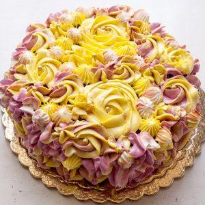 00 3 300x300 - کیک خامه ای رنگ  زرد