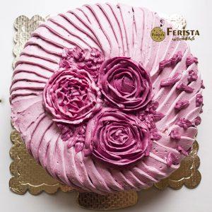 کیک خامه گردویی