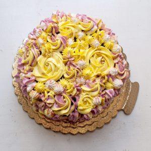 کیک خامه ای رنگ زرد