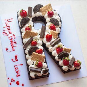 کیک حرف R انگلیسی