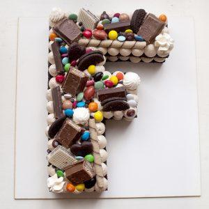 کیک حرف F