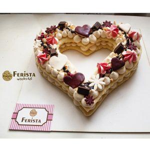 بیسکوکیک قلب و شکلات