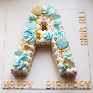 کیک حرف A انگلیسی