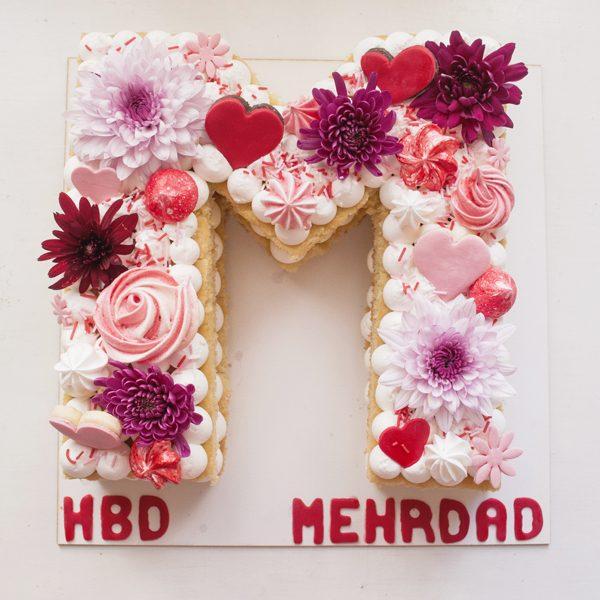 کیک حرف M انگلیسی