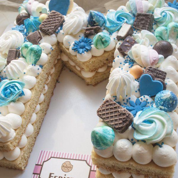 ad 3 600x600 - کیک تولد خامه ای  حرف ام  (M)