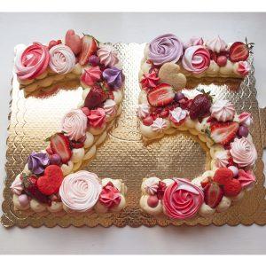 کیک تولد عدد 25