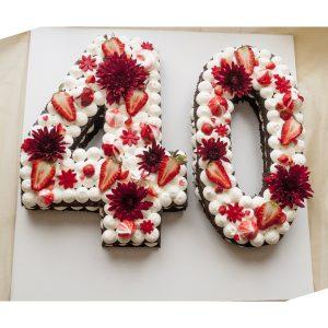 کیک تولد عدد 40
