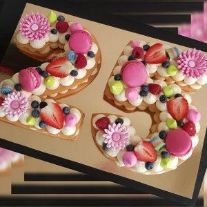 کیک سابله عدد 25 میوه ای فانتزی