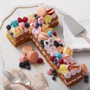 سابله کیک حرف T ماکارون فانتزی