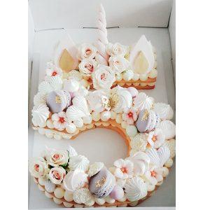 کیک سابله عدد 5 یونیکورن