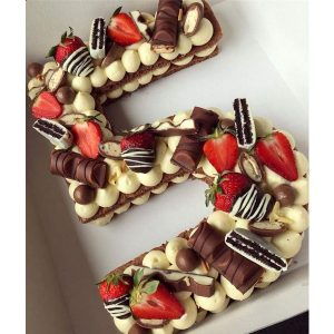 سفارش بیسکوکیک عدد 5 شکلاتی