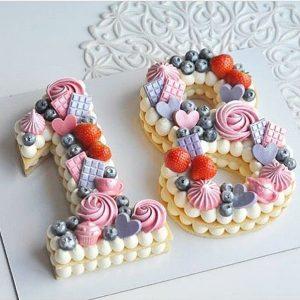 کیک و بیسکوکیک عدد 18 فانتزی