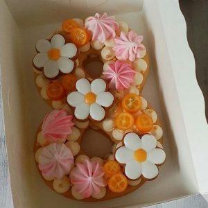 کیک و بیسکوکیک عدد 8 پرتقالی