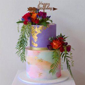 deliciousbysara 2 300x300 - سفارش کیک تولد با گل و تم لوکس