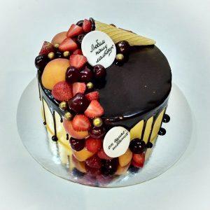 سفارش کیک تولد شکلاتی میوه