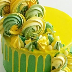 imfalji 60 300x300 - سفارش کیک تولد خامه ای تم سبز و زرد