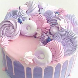 imfalji 62 300x300 - سفارش کیک تولد خامه ای صورتی بنفش