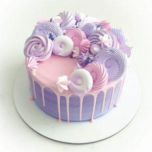 imfalji 63 300x300 - سفارش کیک تولد خامه ای صورتی بنفش