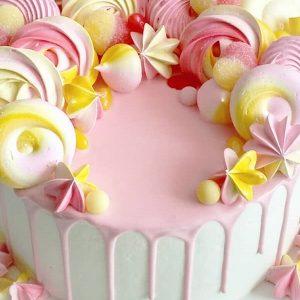 imfalji 81 300x300 - سفارش کیک تولد خامه ای تم صورتی زرد