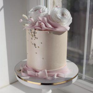 nivskaya 16 300x300 - سفارش کیک عقد تم گل و روبان صورتی
