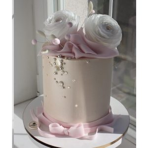 nivskaya 18 300x300 - سفارش کیک عقد تم گل و روبان صورتی