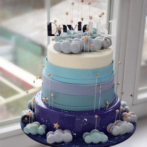 nivskaya 28 300x300 - سفارش کیک سه طبقه  تم نیلی ابری