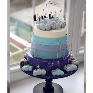 nivskaya 29 300x300 - سفارش کیک سه طبقه  تم نیلی ابری
