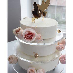 nivskaya 4 300x300 - سفارش کیک تولد سه طبقه تم سفید با گل