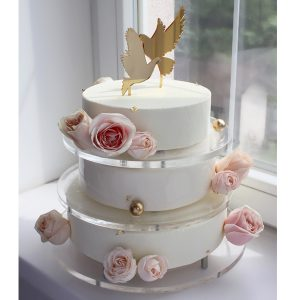 nivskaya 6 300x300 - سفارش کیک تولد سه طبقه تم سفید با گل