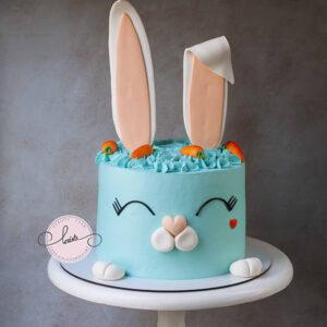 DSC0hhhh043 copy 300x300 - کیک خرگوش خامه ای خوشگل شکلاتی